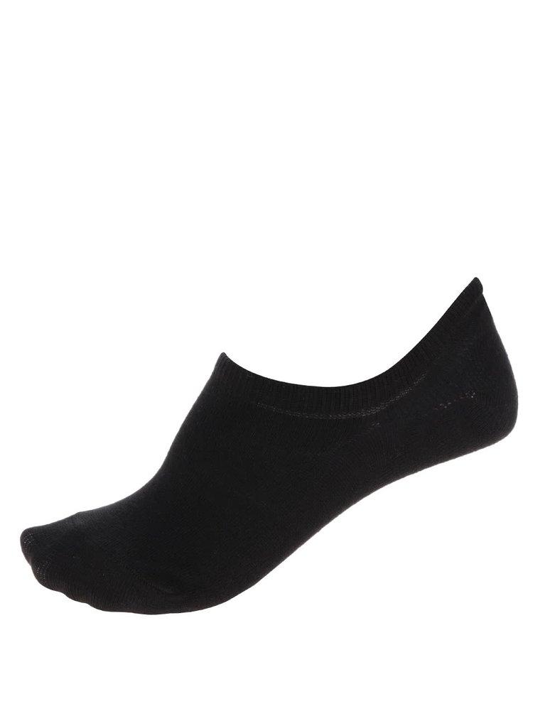 Sada dvou párů kotníkových ponožek v černé barvě Pieces Tess