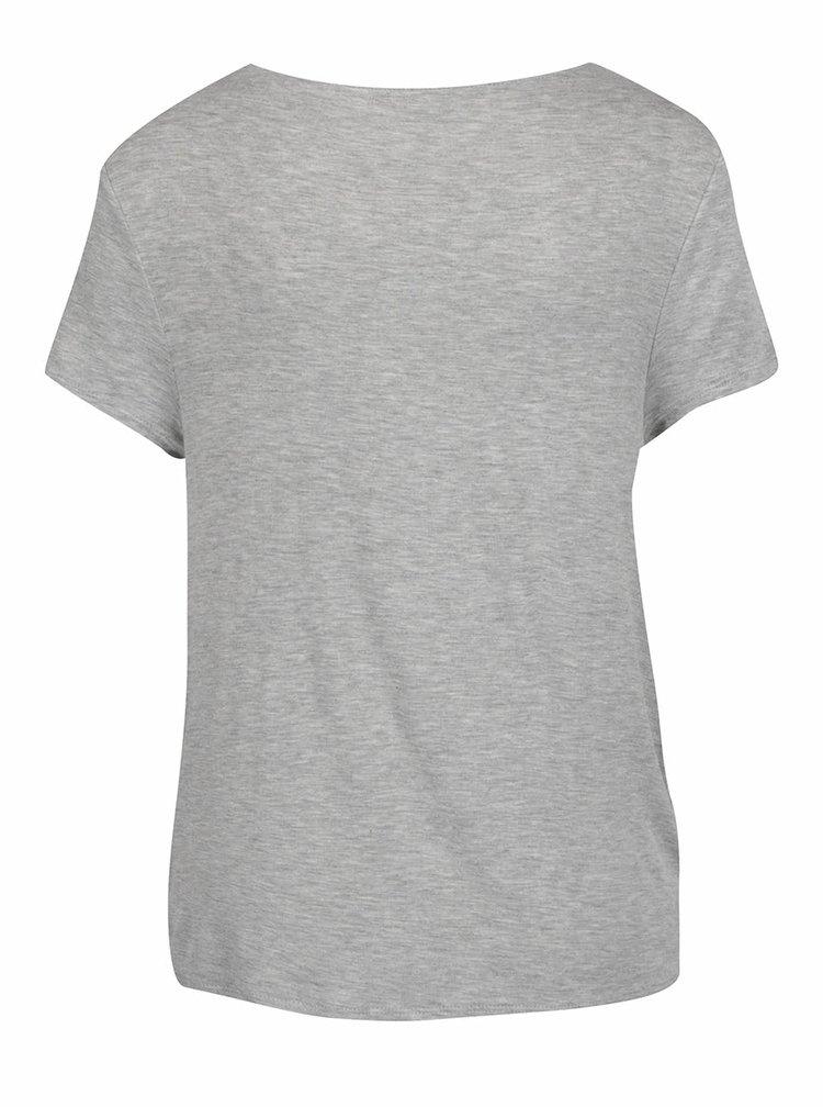 Svetlosivé tričko s uzlom TALLY WEiJL