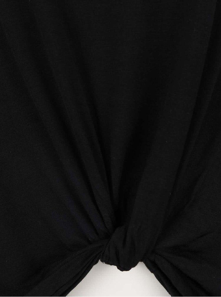 Černé tričko s uzlem TALLY WEiJL