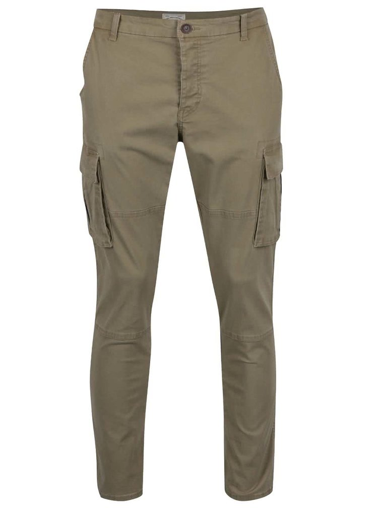 Pantaloni bej ONLY & SONS Stone