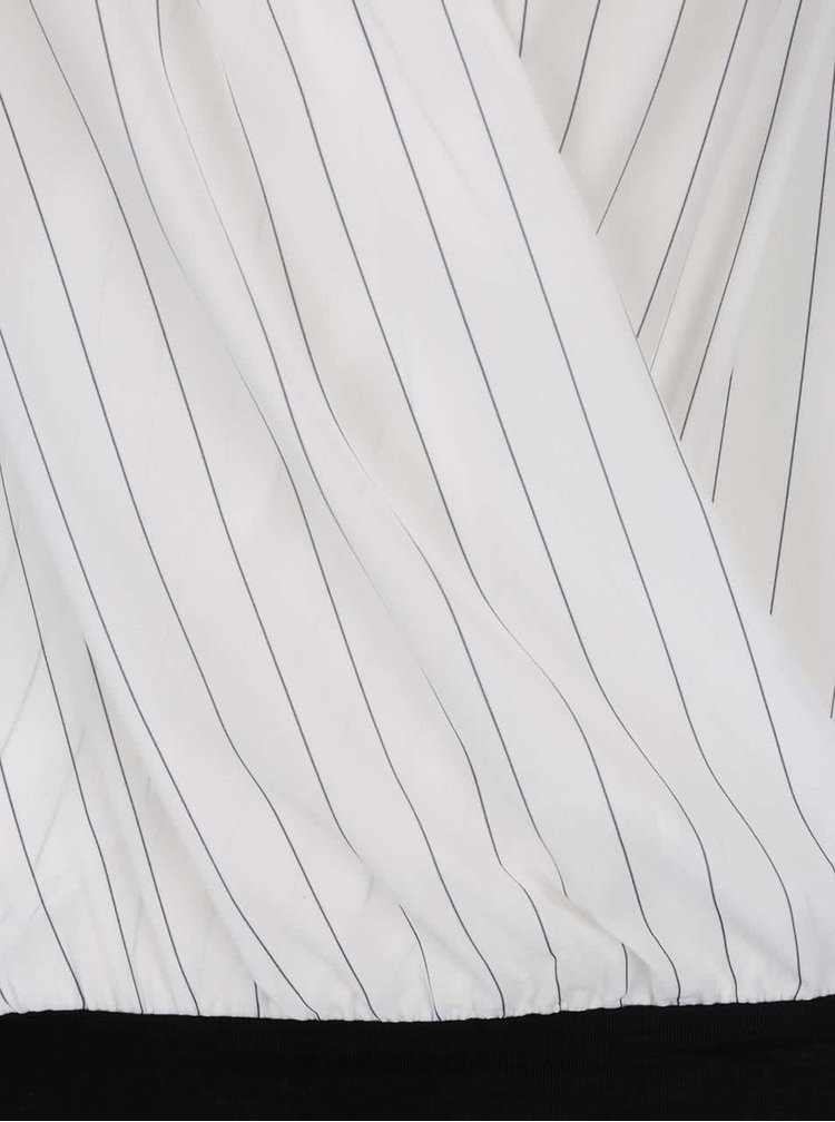 Body alb&negru TALLY WEiJL cu decolteu V