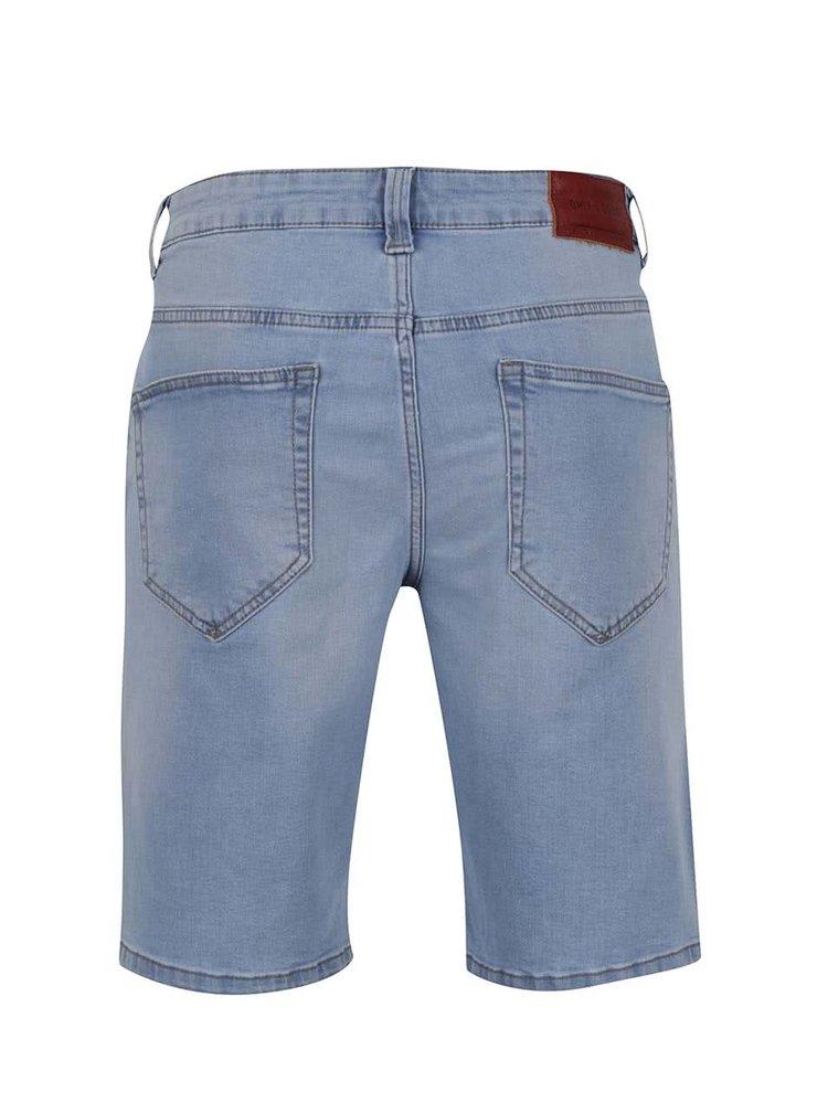 Světle modré džínové kraťasy ONLY & SONS Loom