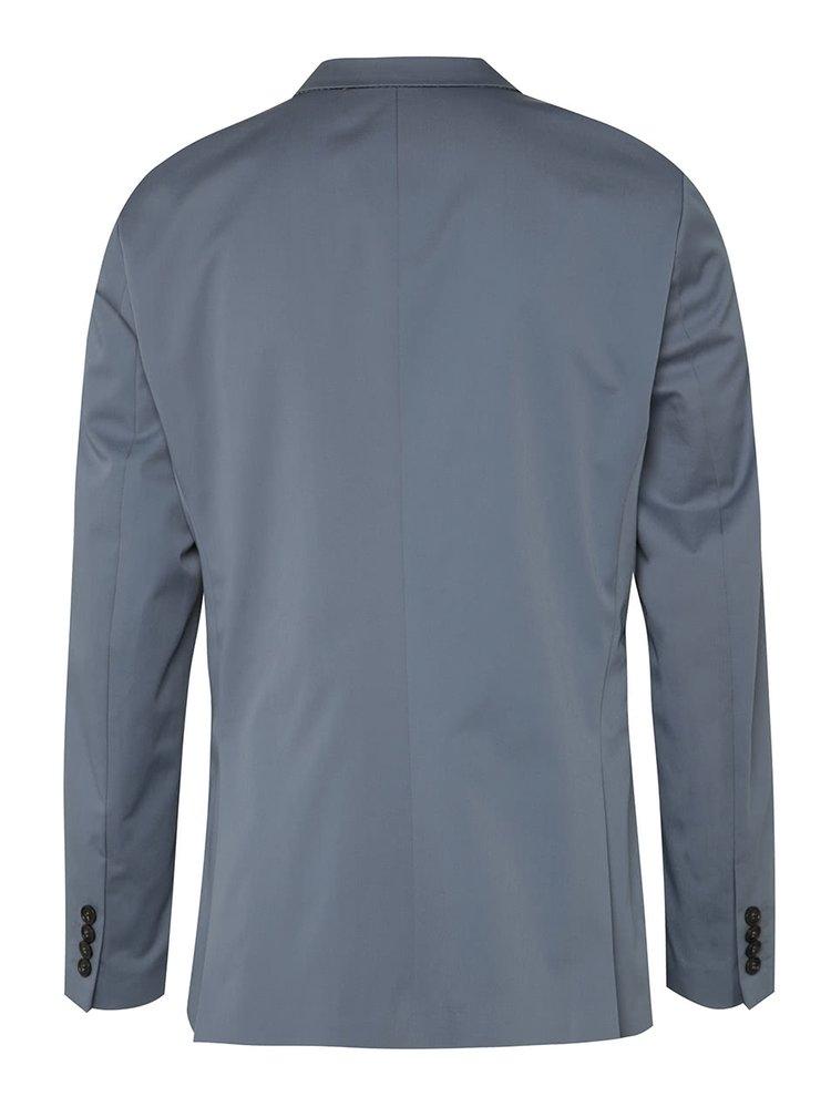 Světle modré oblekové sako Selected Homme Abone-Cotton