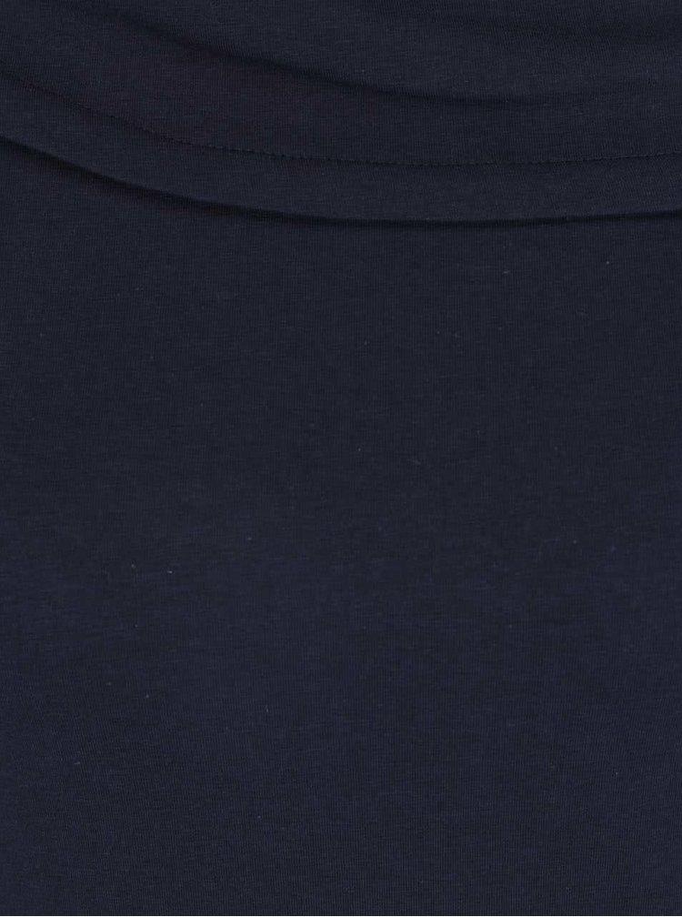 Tricou albastru melanj Skunkfunk cu decolteu asimetric