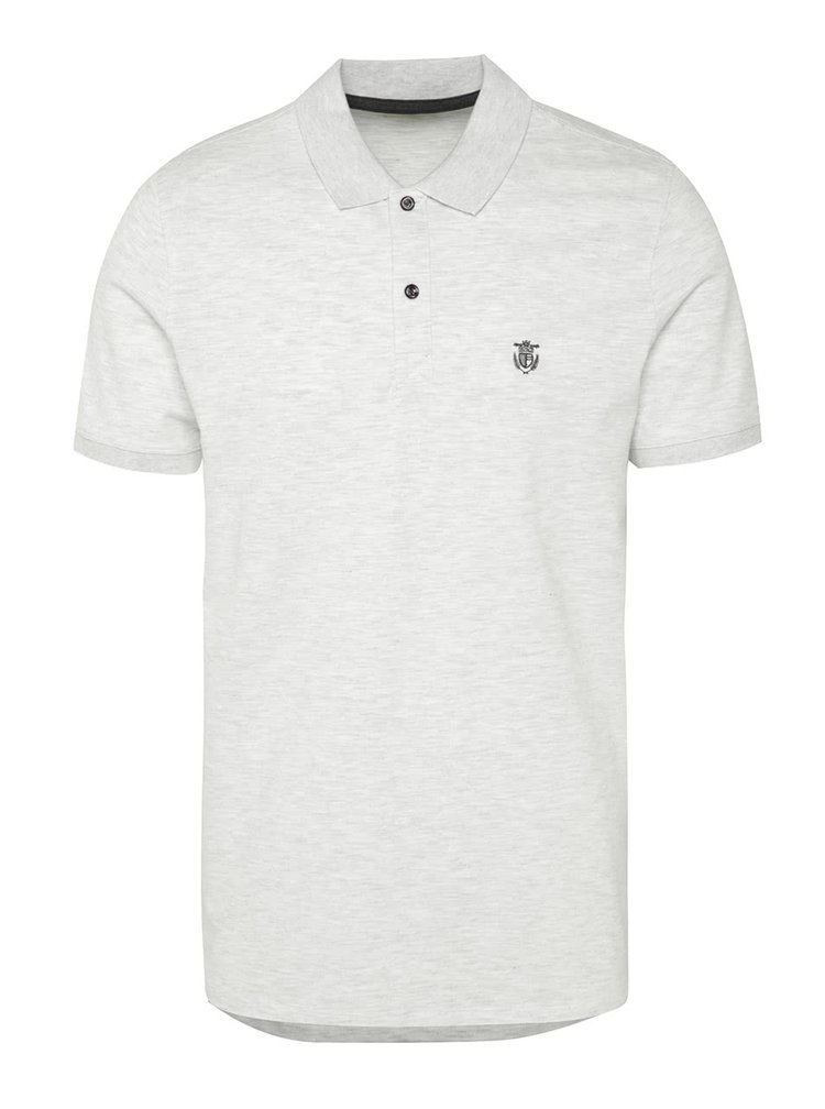 Tricou polo gri deschis melanj Selected Homme Haro