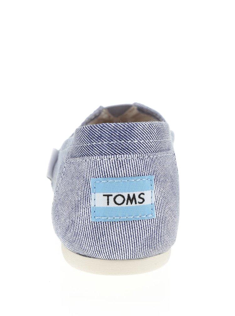 Světle modré dámské slip on TOMS