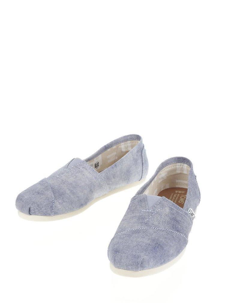 Espadrile bleu din denim - TOMS