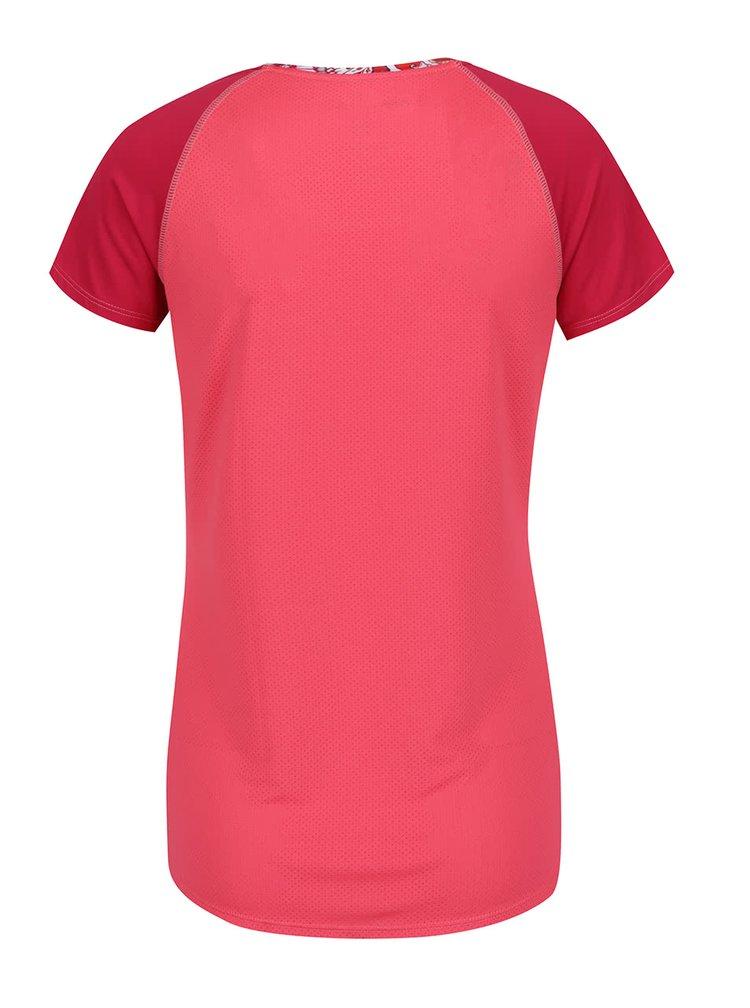 Tricou roz cu model Desigual Sport