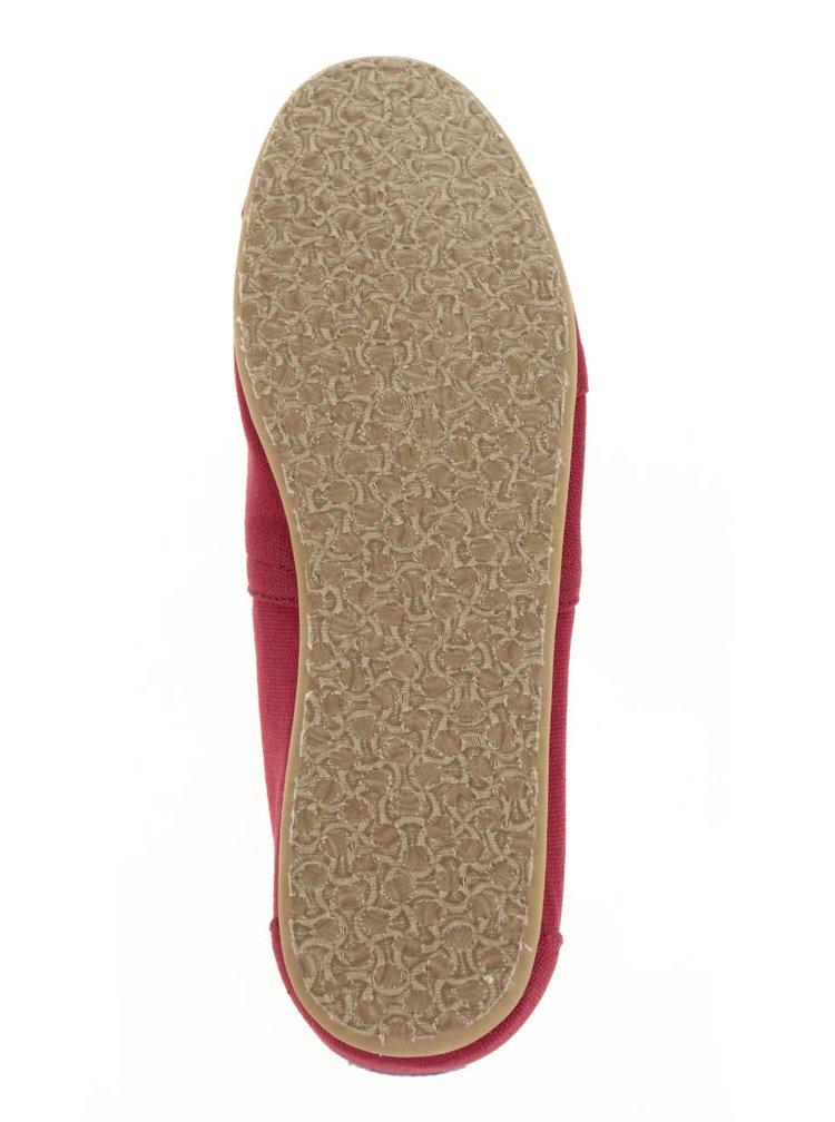 Tmavočervené pánske loafers TOMS