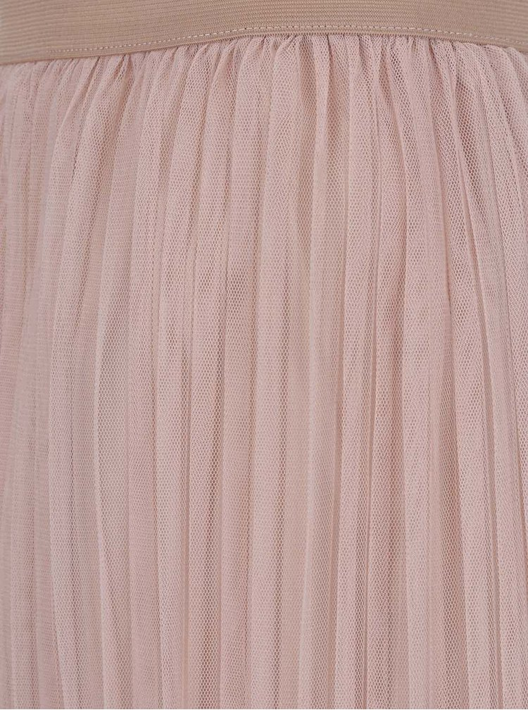 Fustă plisată roz pal TALLY WEiJL din tulle