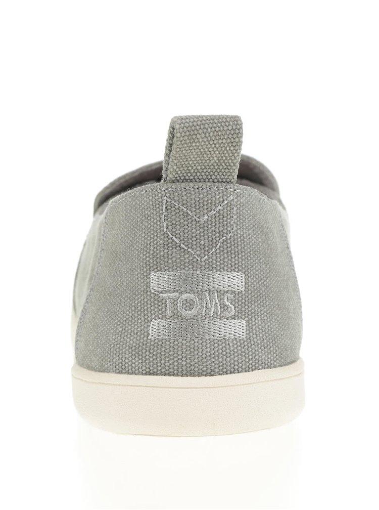 Šedé pánské loafers s výšivkou TOMS