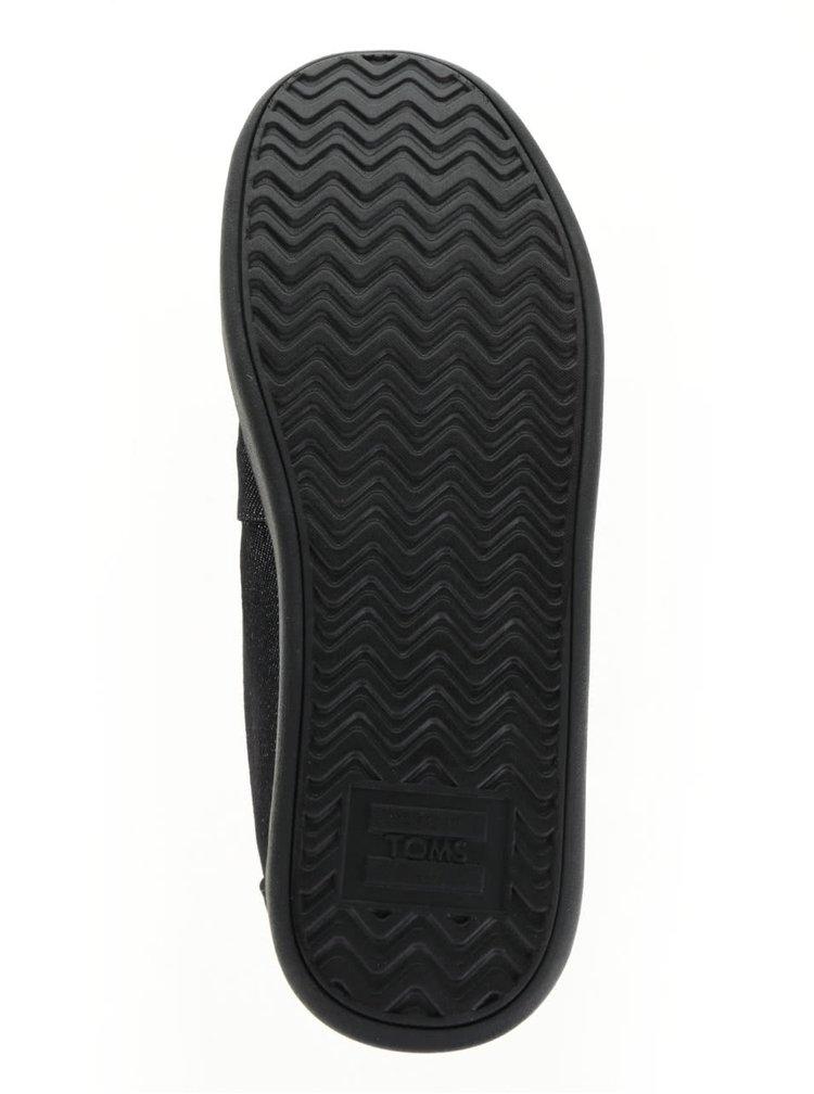 Černé pánské loafers s výšivkou TOMS