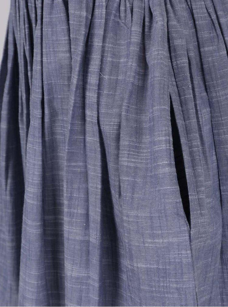 Fustă albastră Skunkfunk cu bretele