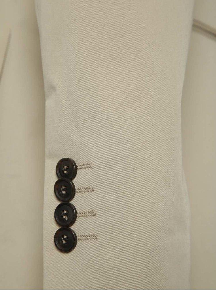 Béžové oblekové sako Selected Homme Abone-Cotton