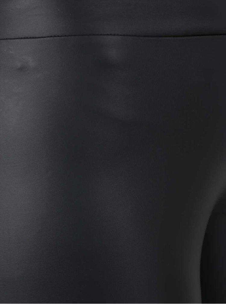 Čierne koženkové legíny TALLY WEiJL