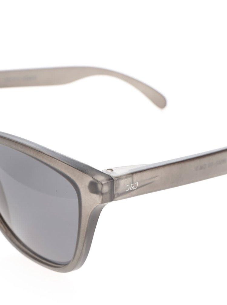 Ochelari de soare gri închis Jack & Jones Leo cu logo