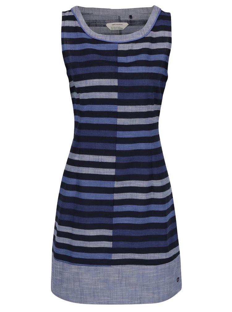 Tmavě modré pruhované pouzdrové šaty Skunkfunk