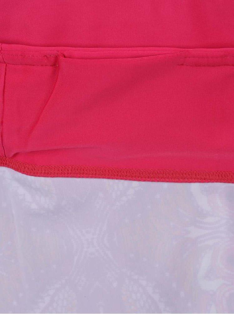 Růžové vzorované sportovní 3/4 legíny Desigual Sport