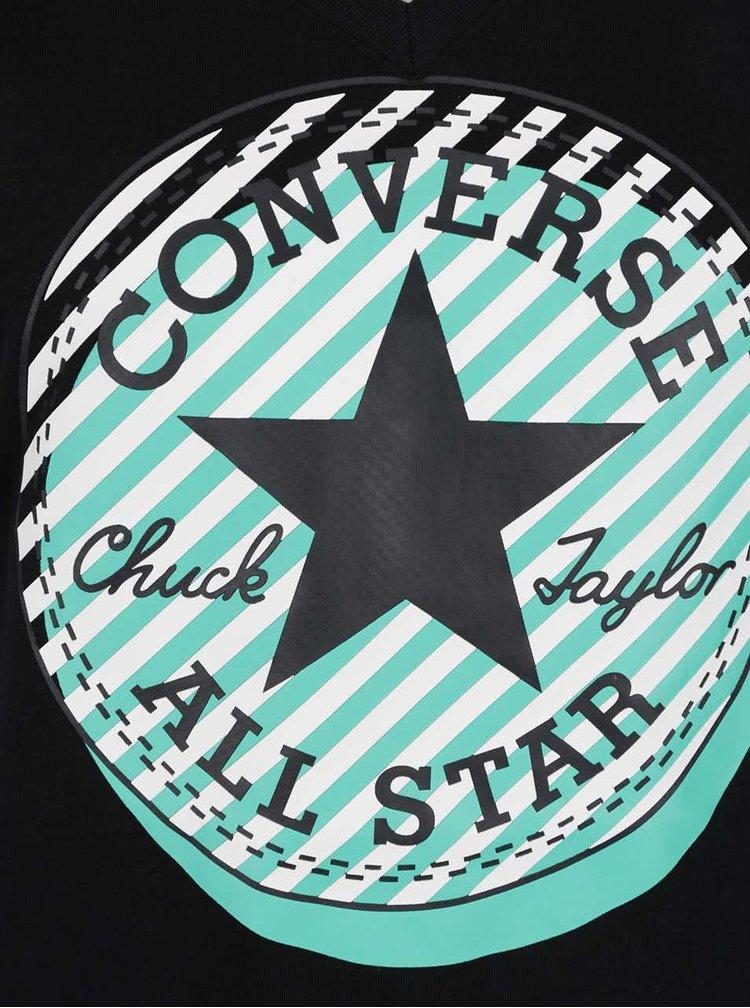 Černé dámské tričko s potiskem Converse Off Center