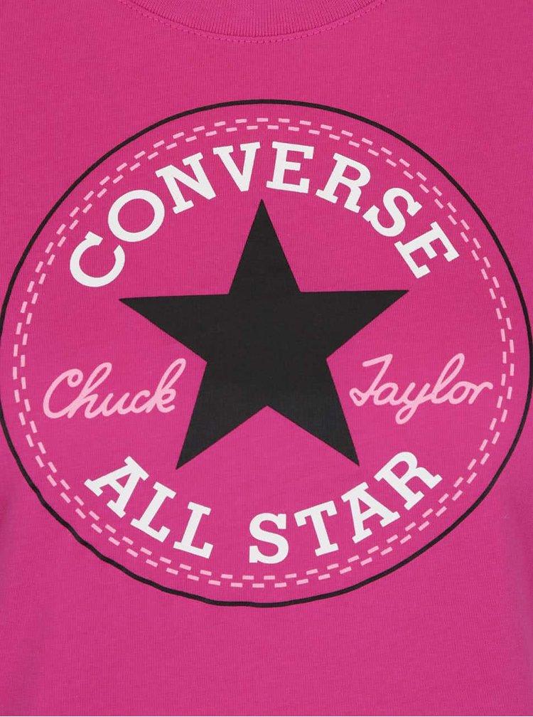 Tricou roz Converse Core
