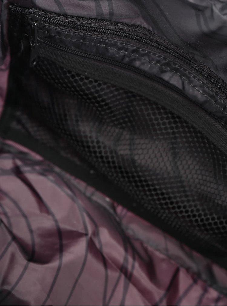 Černo-růžová sportovní taška s hadím vzorem Desigual Sport Bols