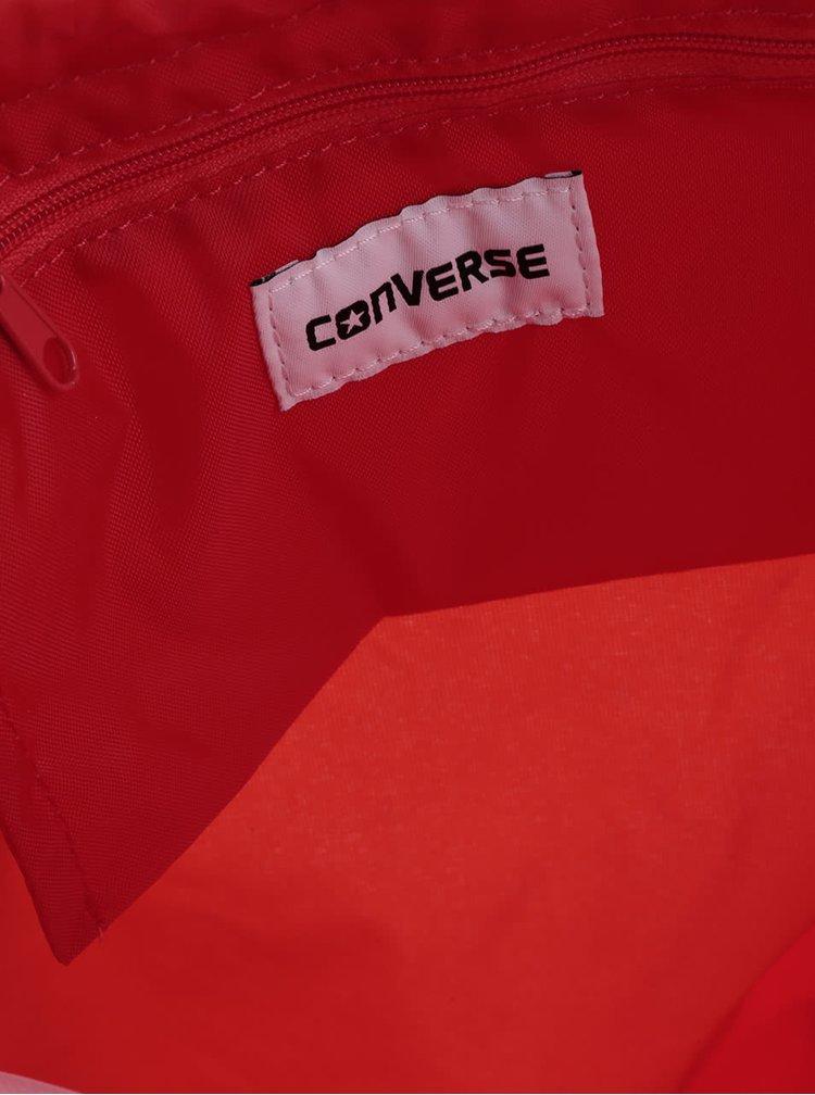 Červený unisex vak s nášivkou Converse Cinch