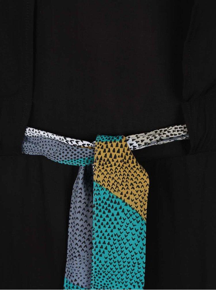 Rochie neagră Skunkfunk cu cordon