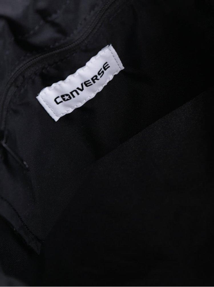 Černý unisex vak s nášivkou Converse Cinch