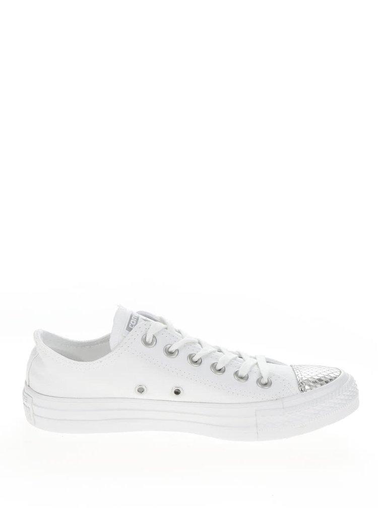 Bílé dámské tenisky s detaily ve stříbrné barvě Converse Chuck Taylor All Star