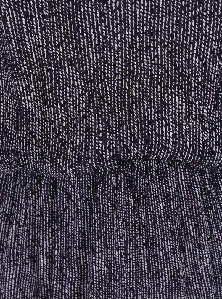 Tmavě modré vzorované šaty se zapínáním na zádech Skunkfunk
