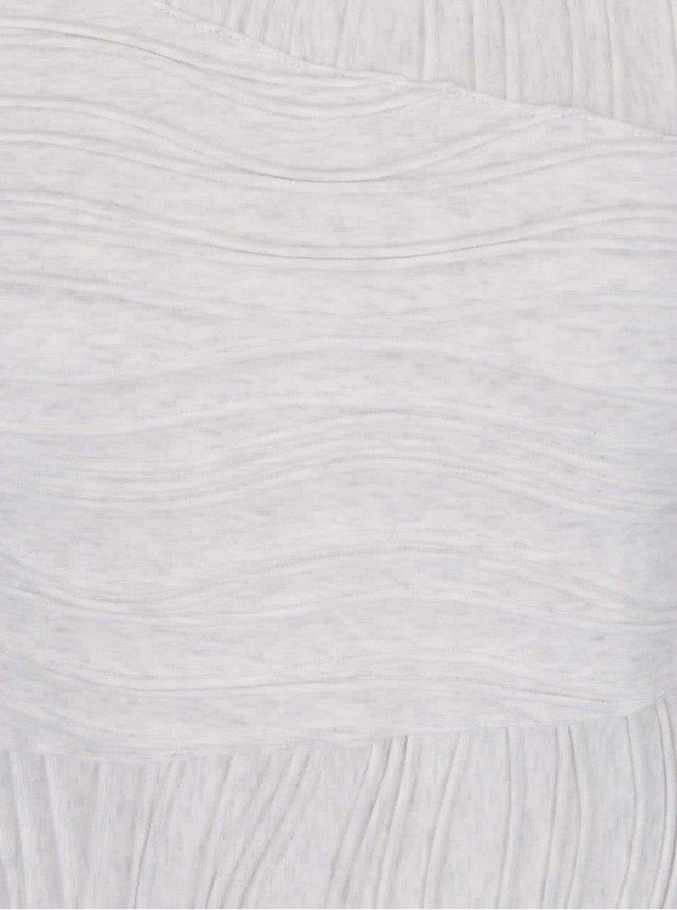 Světle šedé pouzdrové šaty s plastickým vzorem Skunkfunk