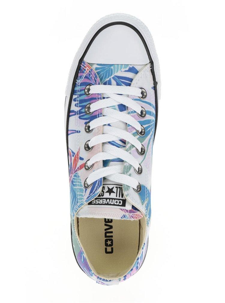 Bílé dámské nízké tenisky s tropickým potiskem Converse Chuck Taylor All Star