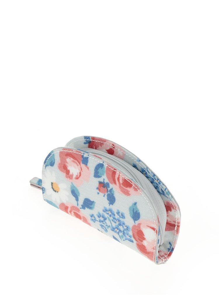 Modrá dámská květovaná peněženka na drobné Cath Kidston