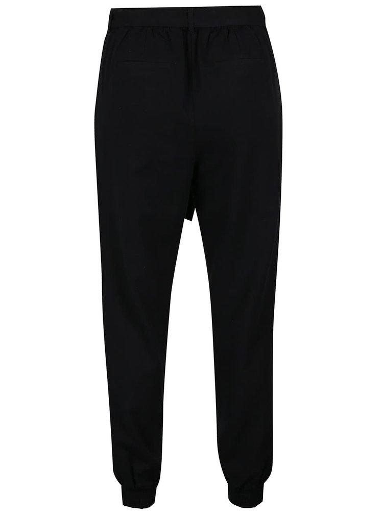 Pantaloni negri VERO MODA Milo-Citrus cu cordon