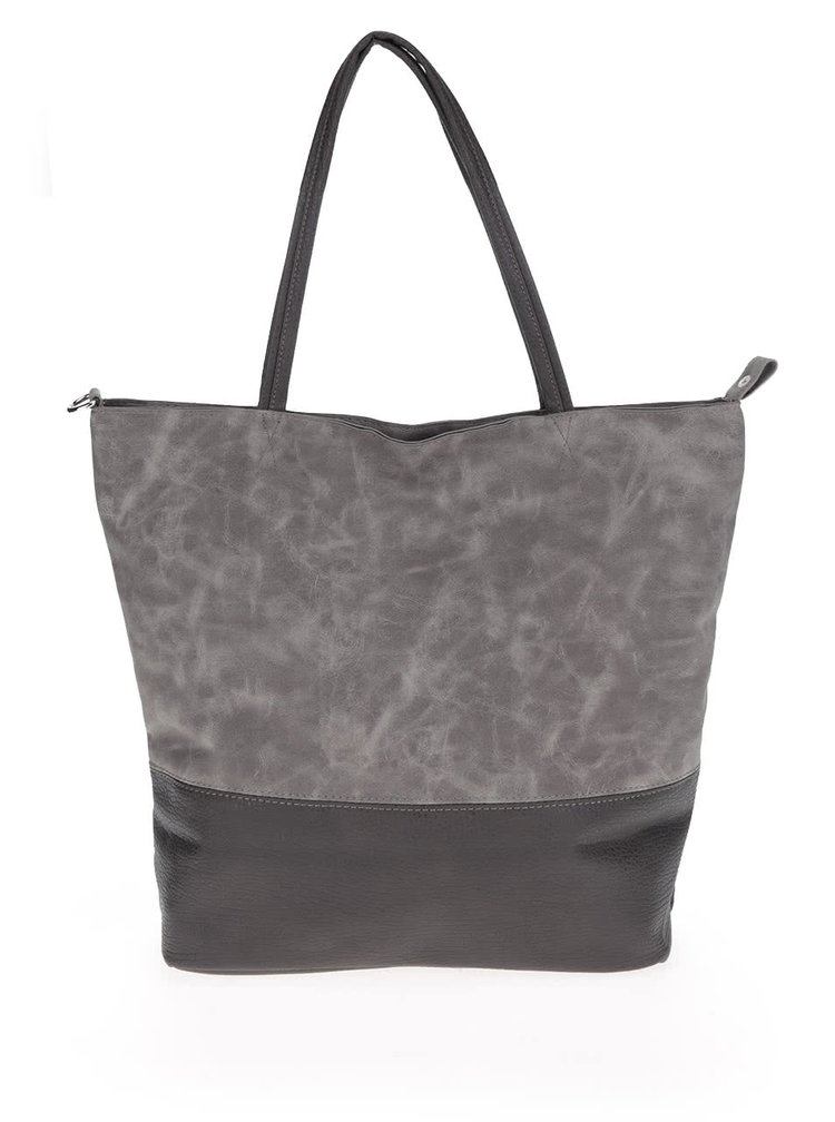Tmavě šedý shopper Haily's Velouroptic