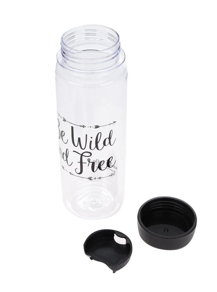 Sticla transparenta Sass & Belle cu imprimeu text 450 ml