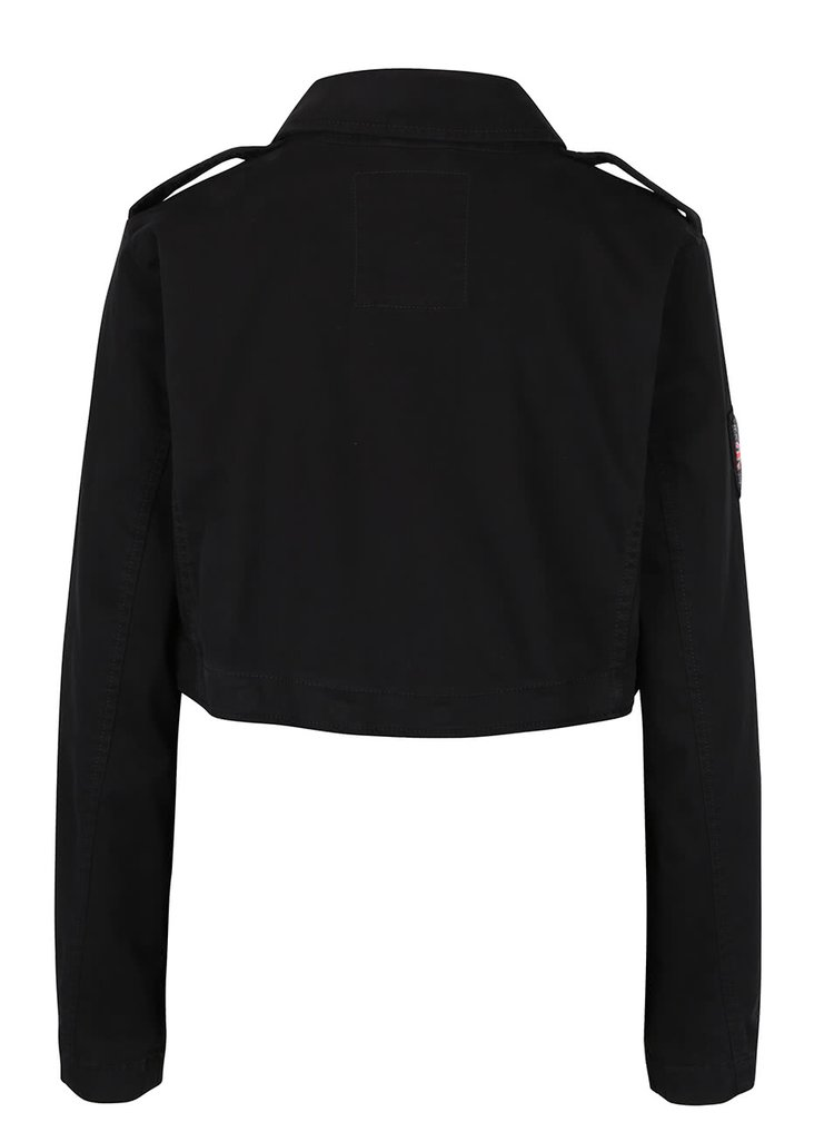 Jacheta neagra cu lungime ajustabila Superdry Rookie