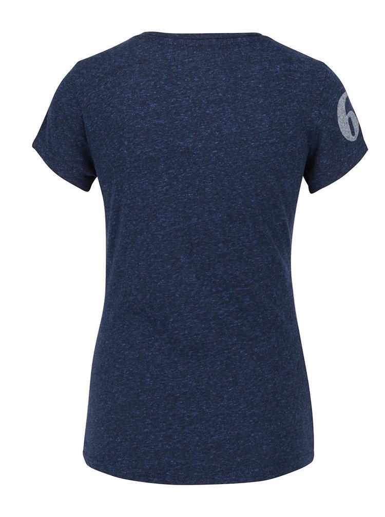 Tricou albastru inchis Superdry cu print