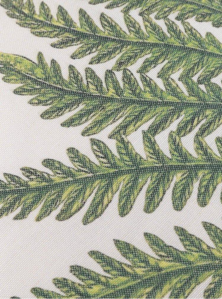 Pernă crem&verde Sass & Belle cu imprimeu