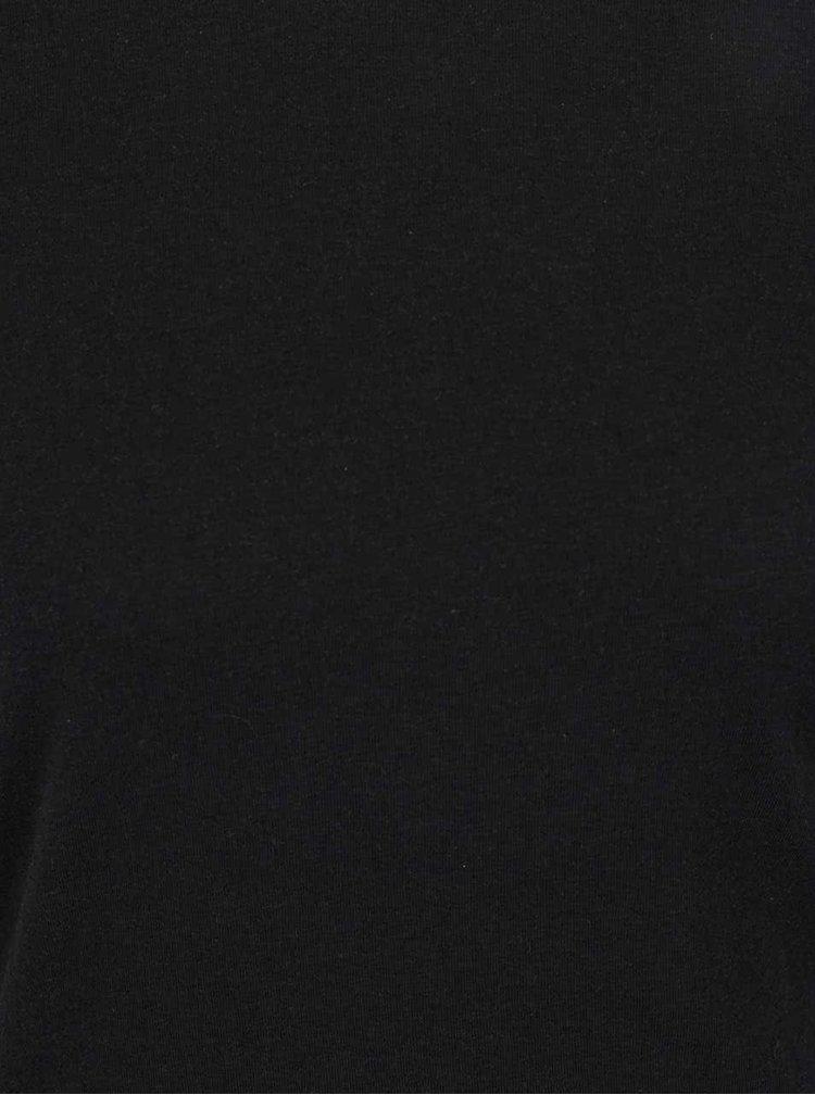 Rochie neagră Noisy May Ola cu tiv asimetric