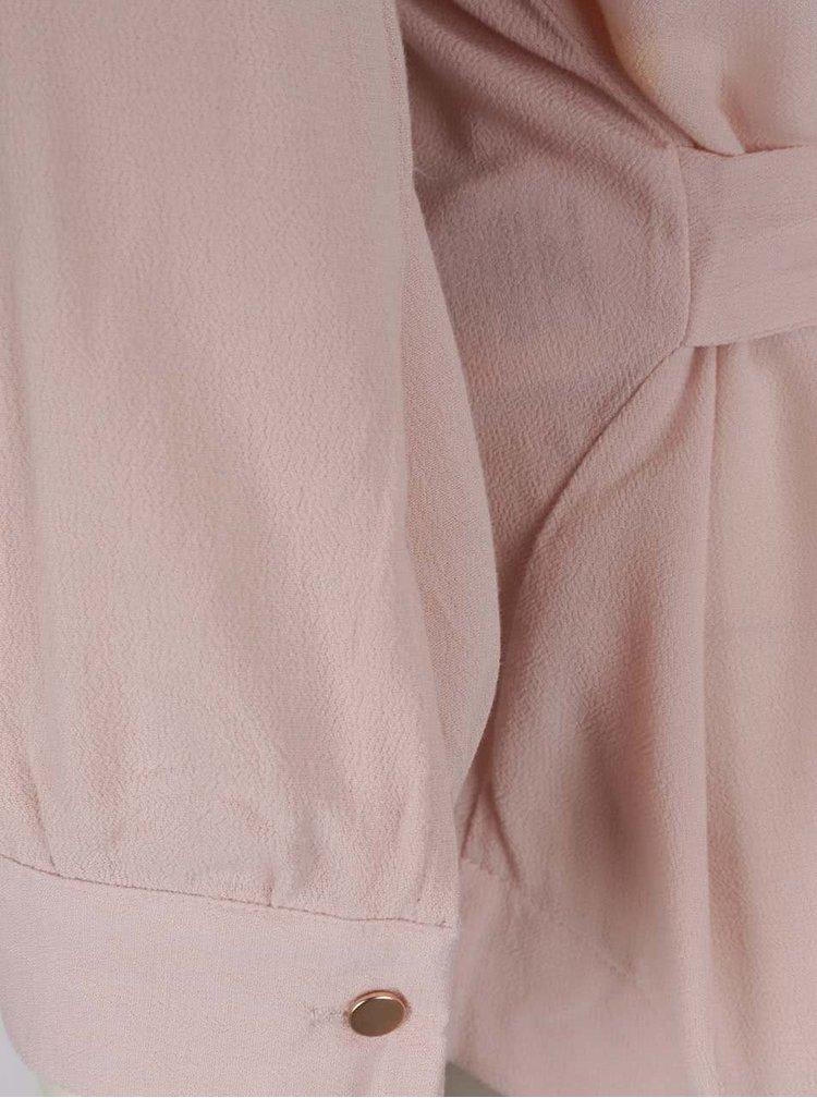 Světle růžová halenka s tříčtvrtečními rukávy VERO MODA Michelle