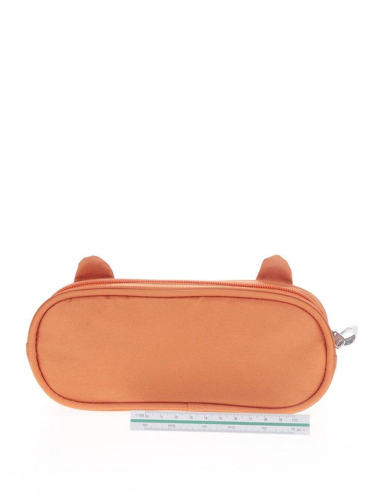 Oranžový penál s motivem lišky Sass & Belle