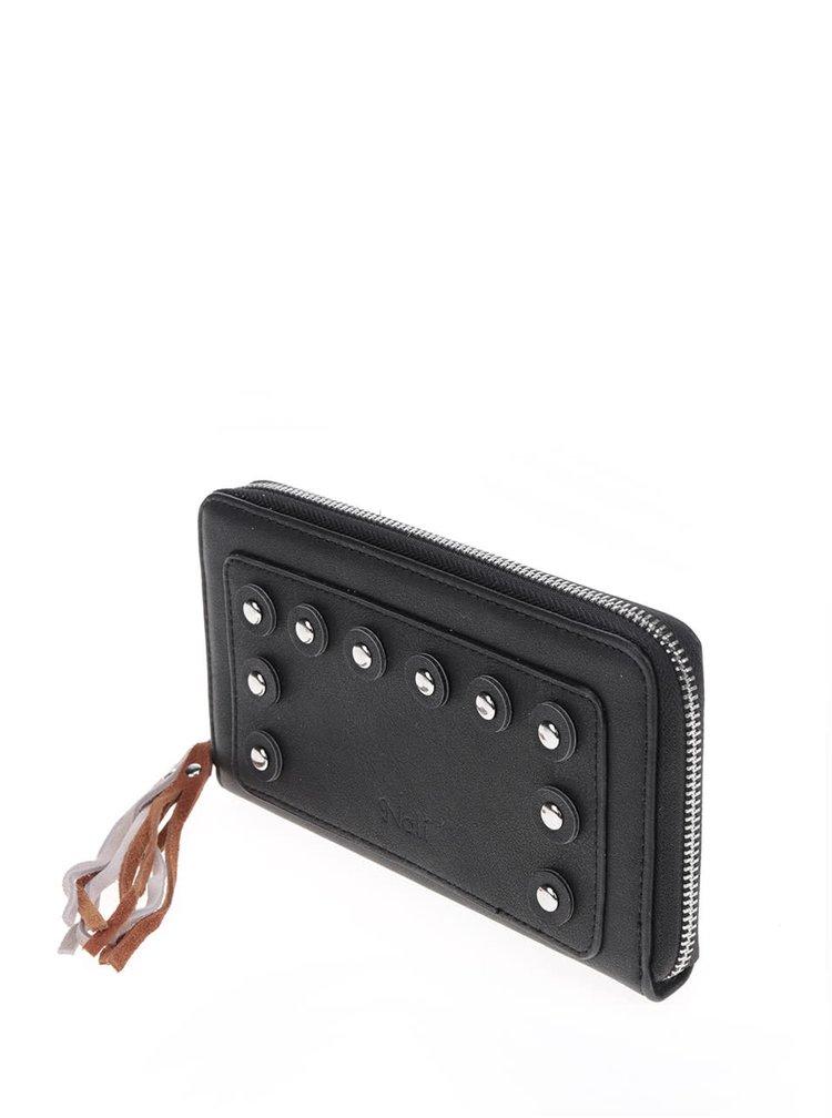Černá peněženka se střapcem Nalí