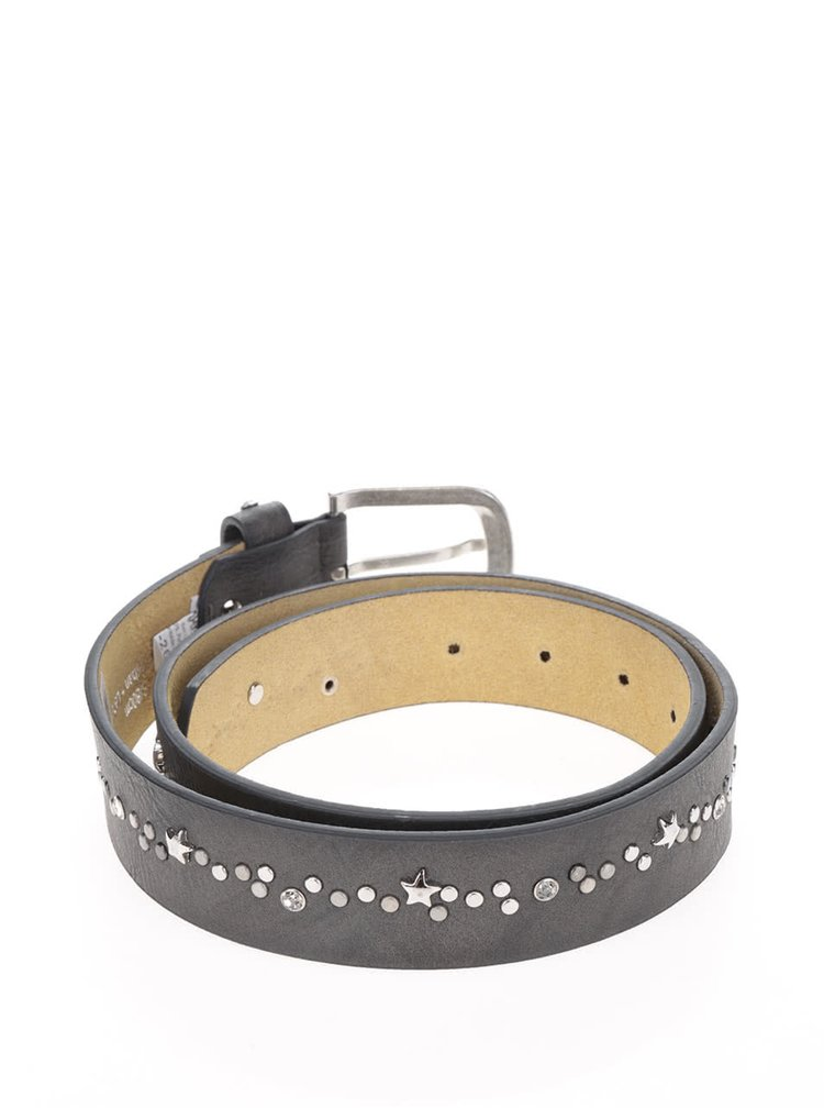 Tmavě šedý pásek s aplikací hvězd Haily´s Belt Nieten