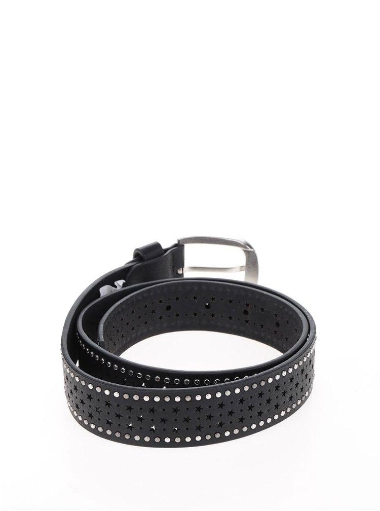 Černý vzorovaný pásek Haily´s Belt Stars