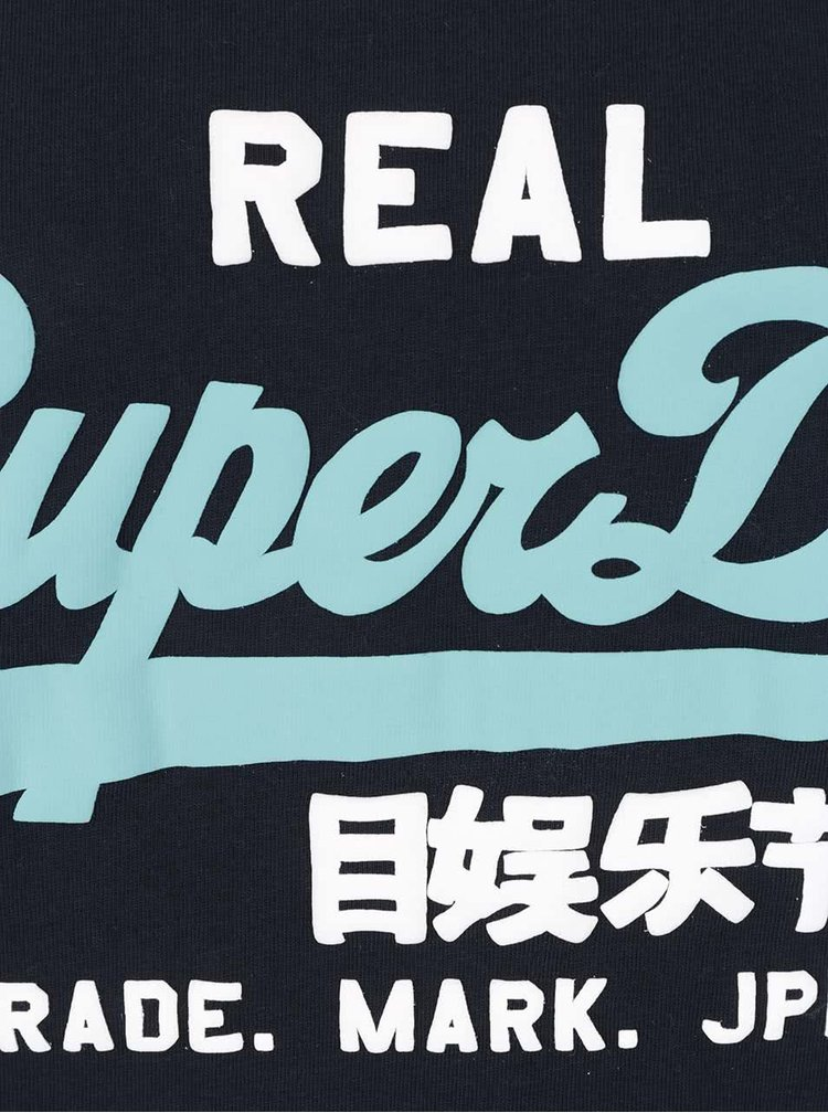 Tmavě modré pánské tílko s potiskem Superdry