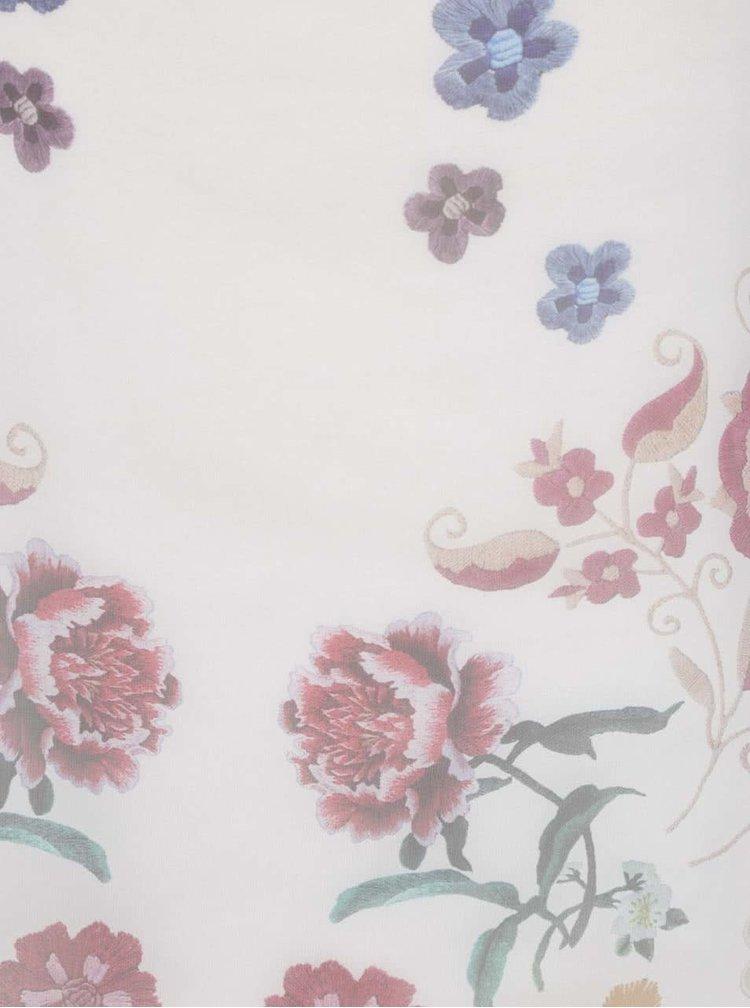 Krémové dlouhé květované tílko Haily's Cara