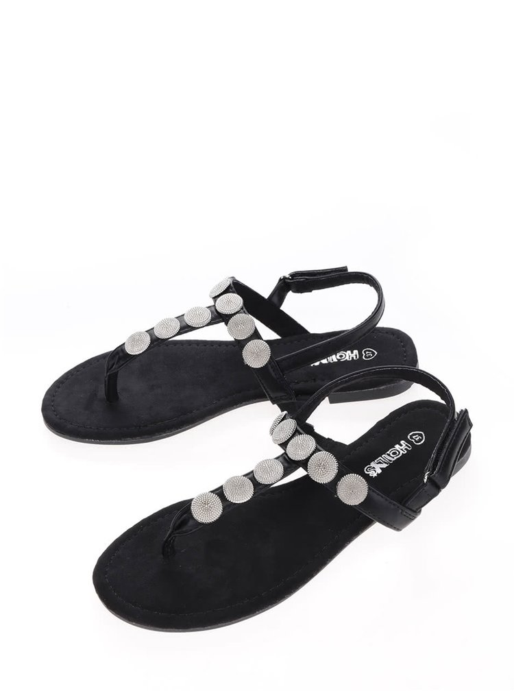 Černé sandály Haily's Lena