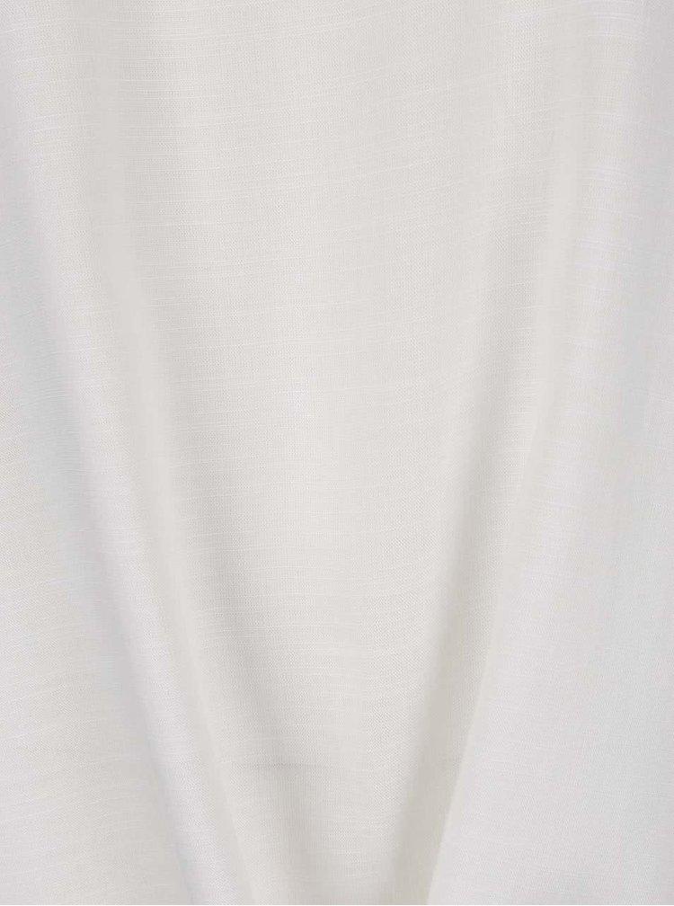 Tricou alb Vero Moda Fay cu nod decorativ