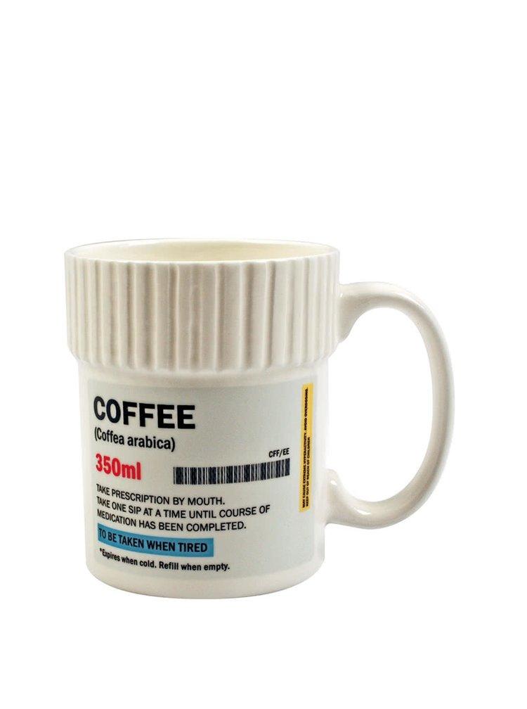 Cană albă Gift Republic Coffee cu imprimeu